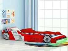 vidaXL võidusõiduauto kujuga lastevoodi 90 x 200 cm punane
